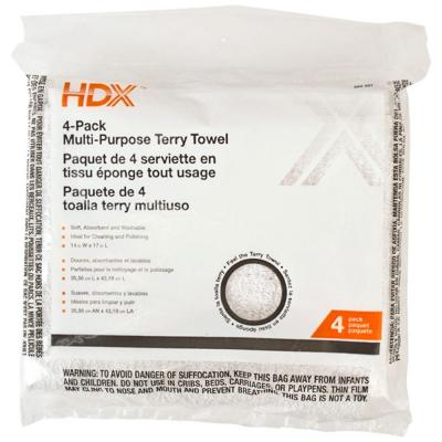 HDX Terry Towels (4-Pack)