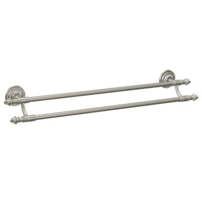 Stockton 24 in. Double Towel Bar in Brushed Nickel