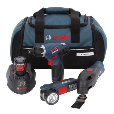 Bosch 12-Volt Lithium-Ion Cordless Combo Kit (3-Tool)