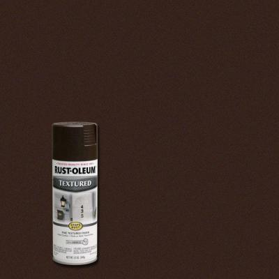 12 oz. Textured Dark Brown Protective Enamel Spray Paint (Case of