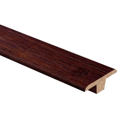 Bamboo Cafe 3/8 in. Thick x 1-3/4 in. Wide x 94 in. Length Hardwood T-Molding Product Photo