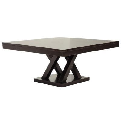 Everdon 35.5 in. L Modern Wood Dark Brown Coffee Table Product Photo