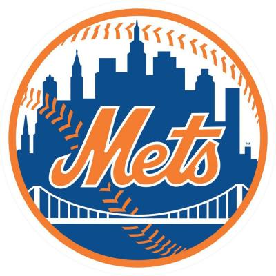 Fathead 37 in. x 37 in. New York Mets Logo Wall Decal