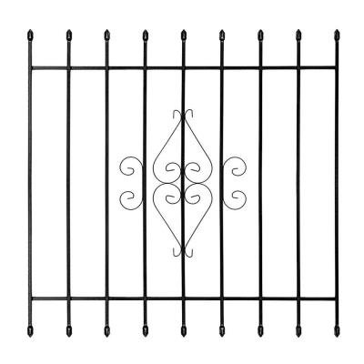48 in. x 48 in. Su Casa Black 9-Bar Window Guard Product Photo