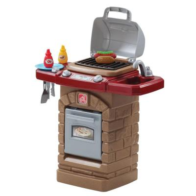 Fixin fun outdoor grill playset 831700 the home depot for Kitchen set for 4 year olds