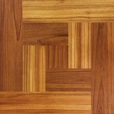 12 in. x 12 in. Brown Wood Parquet Peel and Stick Vinyl Tile Flooring Product Photo