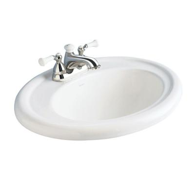 American Standard Standard Collection Self-Rimming Bathroom Sink in White