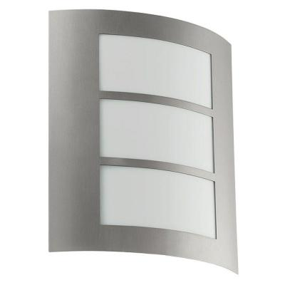 Eglo City 1-Light Stainless Steel Outdoor Wall Light