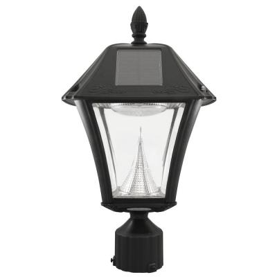 baytown ii solar black resin outdoor post light with 10 warm white led. Black Bedroom Furniture Sets. Home Design Ideas