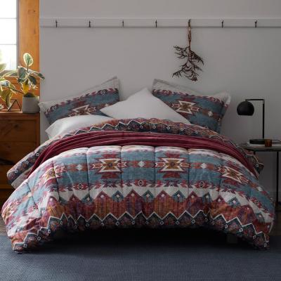 Mesa Geometric Flannel Comforter