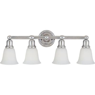Bel Air 4-Light Polished Chrome Bath Vanity Light