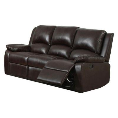 Oxford Leatherette Sofa in Rustic Dark Brown Product Photo
