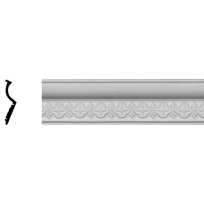 2-1/8 in. x 3-7/8 in. x 96-1/8 in. Polyurethane Amelia Crown Moulding Product Photo