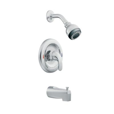 MOEN Adler 1 Handle Tub And Shower Faucet In Chrome L82694 The Home Depot