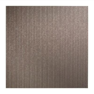 Fasade Rib - 2 ft. x 2 ft. Lay-in Ceiling Tile in Galvanized Steel