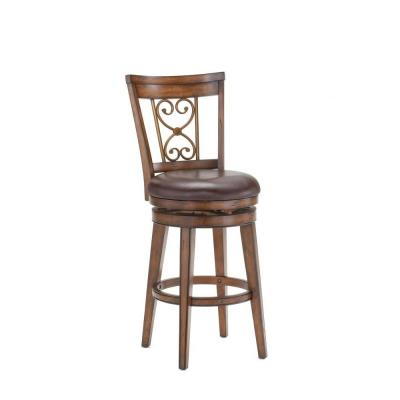 null Villagio Swivel Counter Stool with Scroll Back-DISCONTINUED
