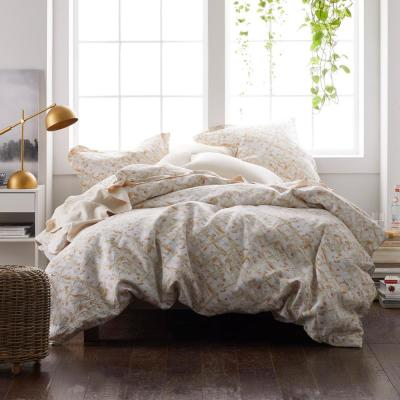 Textured Geo Linen Duvet Cover