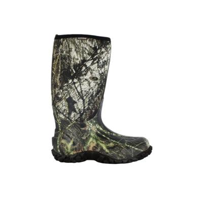 Classic Camo Men's Mossy Oak Rubber with Neoprene Waterproof Hunting Boot