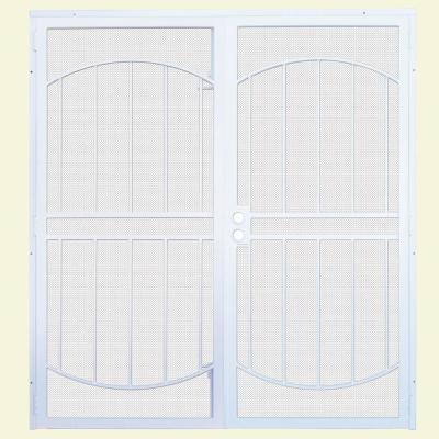 Arcada MAX Double Steel Security Door with Perforated Metal Screen
