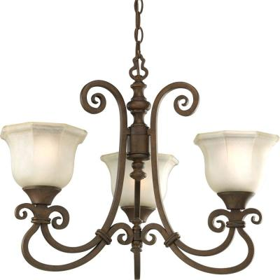 Progress Lighting Guildhall Collection Roasted Java 3-Light Chandelier-DISCONTINUED