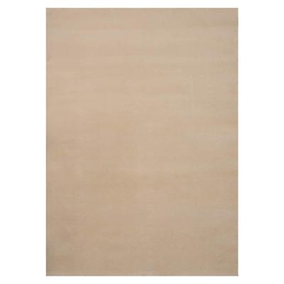 Natco Plush Natural 8 ft. x 12 ft. Bound Carpet Remnant