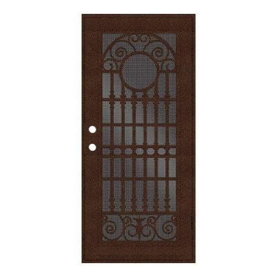 Spaniard Copperclad Surface Mount Aluminum Security Door w/ Perforated Aluminum Screen