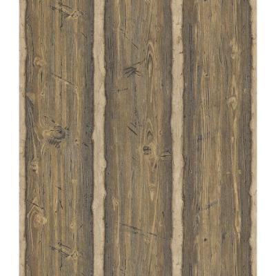 56 sq. ft. Hewn Log Wallpaper Product Photo
