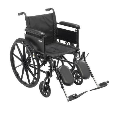 Cruiser X4 Lightweight Dual Axle Wheelchair with Adjustable Detachable Arms,