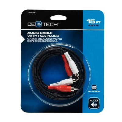 CE TECH 15 ft. Audio and Video Cable with RCA Plugs