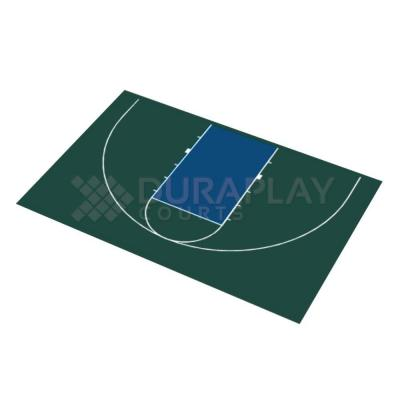 DuraPlay 45 ft. 11 in. x 29 ft. 11 in. Half Court Basketball Kit