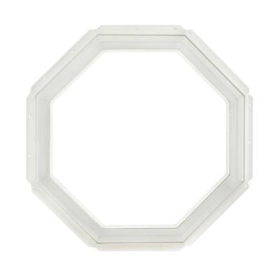 22.25 in. x 22.25 in. Fixed Octagon Geometric Vinyl Window - White Product Photo