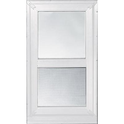 28 in. x 39 in. 2-Track Double Hung Storm Aluminum Window