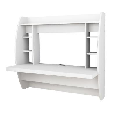 Floating Storage Desk in White Product Photo