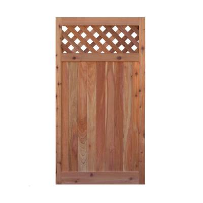 3 ft. x 6 ft. Western Red Cedar Flat Top Diagonal Lattice Fence Gate Product Photo