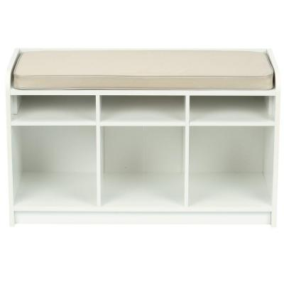 Martha Stewart Living 35 In X 21 In White Storage Bench With Seat 4903 The Home Depot