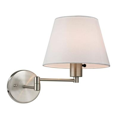 Academy Collection 1-Light Brushed Nickel Swing Arm Sconce