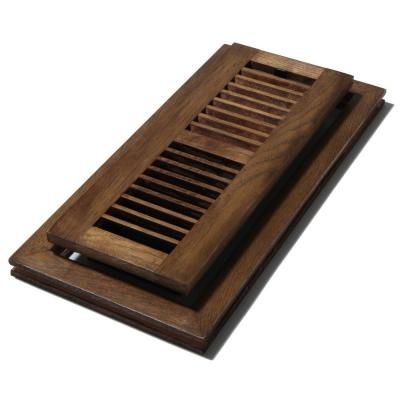 Decor Grates 4 In X 12 In Wood Natural Hickory Saddle
