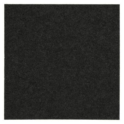 Mohawk Home Gunmetal Ribbed 18 in. x 18 in. Carpet Tiles (16 Tiles/ Case)-DISCONTINUED