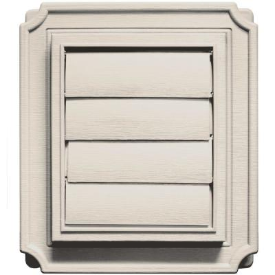 Builders Edge Scalloped Exhaust Siding Vent #048-Almond