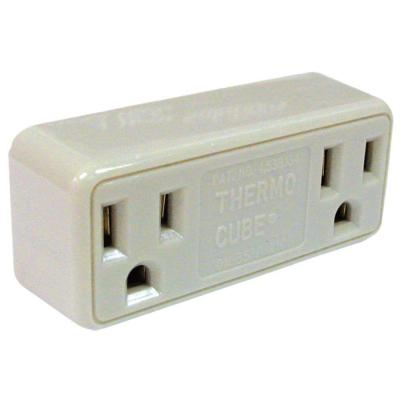 Cadet Freezebuster FB3/TC3 Thermocube Ivory In-Line Limiting Plug-In Freeze Protection Thermostat