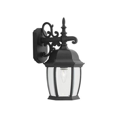 Hallowell Collection Black Outdoor Wall-Mount Lantern Product Photo