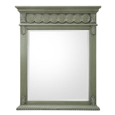 Maribelle 28 in. W x 34.5 in. H Single Wall Hung Mirror in Loden Green Product Photo