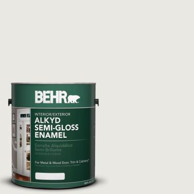 Behr 1 gal ae 43 glacial mist semi gloss enamel alkyd for What are alkyd paints
