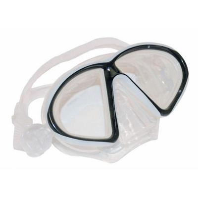 null Medium Large Silicone Mask Clear and Black