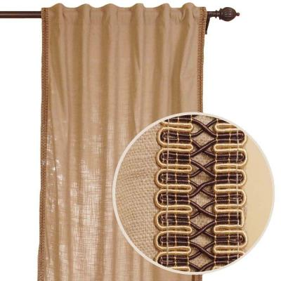 Home Decorators Collection Beige Back Tab Curtain