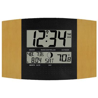 La Crosse Technology Atomic Digital Wall Clock with Temp and Moon Phase