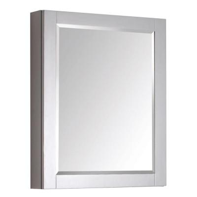 Transitional 30 in. L x 24 in. W Framed Wall Medicine Cabinet in Chilled Gray Product Photo