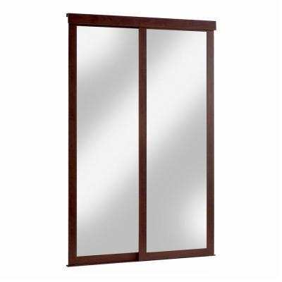 Mirror Fusion Chocolate Frame Sliding Door