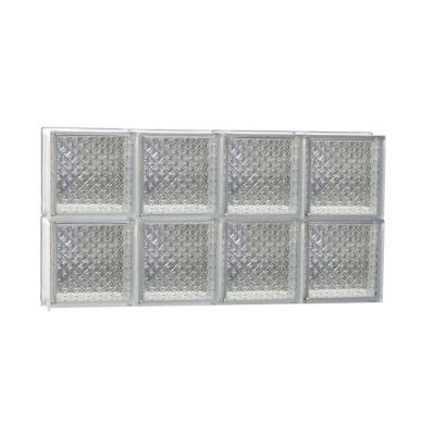 31 in. x 15.5 in. x 3.125 in. Non-Vented Diamond Pattern Glass Block Window Product Photo