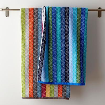 Ribbons Striped Cotton Fingertip Towel (Set of 2)